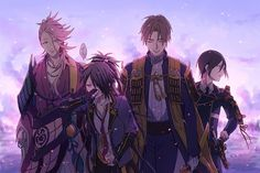 ภาพที่ถูกฝังไว้ Cool Anime Guys, All Anime, Anime Love, Anime Art, Manga Boy, Touken Ranbu, Cute Boys, Sword, Fan Art