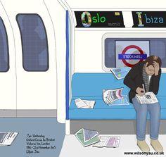 Sudoku, Victoria line, London, November 2015 – Wilson Yau: I draw, teach and make stuff Oxford Circus, London Underground, November 2015, Brixton, Line, Wednesday, 18th, Victoria, Drawings