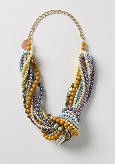 Make this knotted necklace with leftover beads.