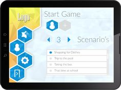 Applied tablet game user interface