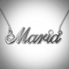 Traditional Name Pendant with Birthstone great for little girls. This was a hot item at my last party.