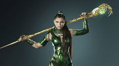 Rita Repulsa poses with her staff in new Power Rangers photo   Elizabeth Banks is playing Rita Repulsa in the anticipated Power Rangers movie and Lionsgate has released a new photo of the villain posing with her staff.She has definitely experienced battle judging from her outfit.  The film follows five high school kids from Angel Grove who becomes superheroes to battle an alien threat. It is directed by Dean Isrealite (Project Almanac) and starsDacre Montgomery as Jason the Red Ranger RJ…