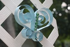 Butterflies made from recycled metal mini-blinds by WindowWhimsy