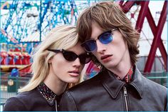 Lili Sumner and Benno Bulang front Just Cavalli's fall-winter 2016 eyewear campaign.