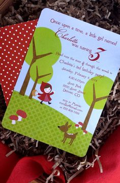 PRINTABLE Little Red Riding Hood party pack  by chachkedesigns, $25.00