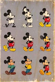 Buy Disney Mickey Mouse Evolution Wall Poster online and save! Disney Mickey Mouse Evolution Maxi Poster One of the cheekiest mice to grace both the small screen and the silver screen, Mickey has continued to app. Disney Pixar, Disney Films, Disney Animation, Disney Vintage, Retro Disney, Punk Disney, Disney Magic, Mickey Mouse E Amigos, Mickey Mouse And Friends