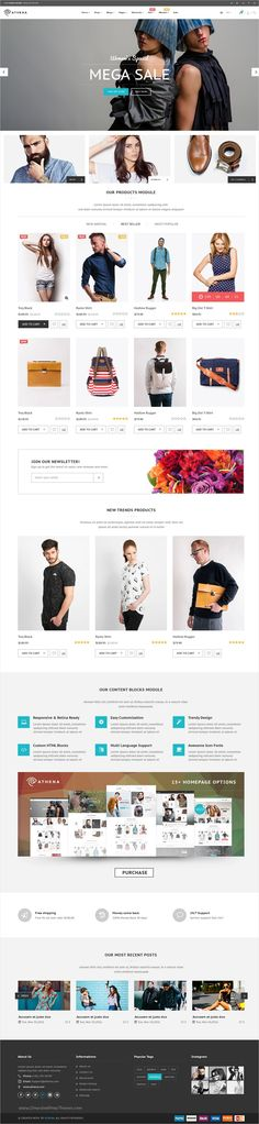Athena is a clean and modern design #PSD #theme for unique eCommerce #website with 15+ stunning homepage options, 39+ Layered PSD pages, 11+ shop and 5+ blog pages download now ⇨ https://themeforest.net/item/athena-fashion-ecommerce-psd-template/17262223?ref=Datasata
