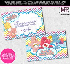Scooby Doo Birthday Thank You Cards Mystery Machine Cards Scooby