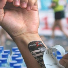 Temporary running tattoo to help you keep your pace... or you could just use an app on your iPhone :)