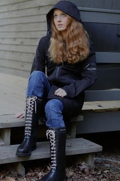 9a076a7c01ce Ilse Jacobsen boots in black Rainy Day Fashion