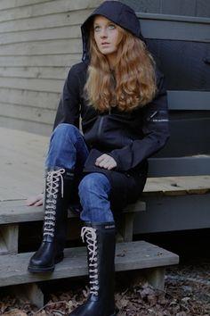 rain..rain...Ilse Jacobsen boots in black