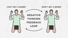 Negative thinking effects more than just you manhood. It can effect you way of life.#guycode