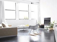 Black and white Scandinavian loft renovation via facing north with gracia