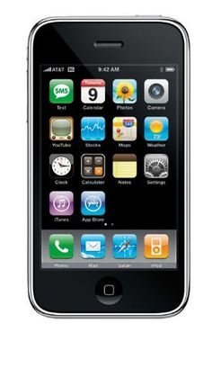 Apple iPhone (Black) - With display screen, the iPhone smartphone gives you a clear view of all the contents and applications. The Wi-Fi connectivity allows you to chat with friends, view your mails, and surf from almost anywhere. Apple Iphone, Best Iphone, Iphone 3gs, Free Mobile Phone, Mobile Phones, Ios, Cell Phones In School, Unlock Iphone, Unlocked Phones