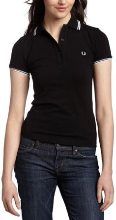 Fred Perry Women`s Twin Tipped Polo Shirt; I live in polos during the summer.