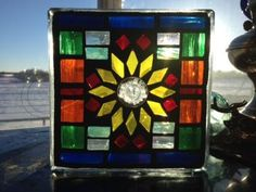 More Stained Glass Mosaic Blocks!! Colorfulgirl.com