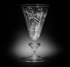 Dutch diamond-point engraved glass façon de Venise third quarter 17th century
