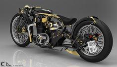 design & 3D modeling -custom bike
