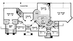 Tour the Palm Aire Adobe Style Home that has 4 bedrooms and 3 full baths from House Plans and More. See highlights for Plan House Plans And More, Best House Plans, Dream House Plans, House Floor Plans, Florida House Plans, Florida Home, Rm 1, I Love House, Closet Layout