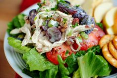 Honey Roasted Chicken Salad (Mayo Free!) #healthy #recipe #lowcarb