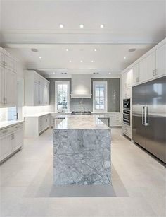 2414 Inwood Houston, TX 77019: Photo The Luxurious Kitchen Has Carrara Marble  Countertops,
