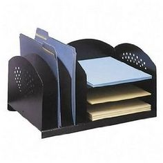 Safco Model Rack with 3 Upright and 3 Horizontal Sections, Black (3167BL)