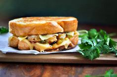 Grilled Cheese del Mar (Shrimp Grilled Cheese with green chiles)
