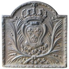 17th-18th Century Arms of France Fireback | From a unique collection of antique and modern fireplace tools and chimney pots at https://www.1stdibs.com/furniture/building-garden/fireplace-tools-chimney-pots/