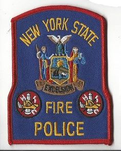 vintage-New-York-NY-State-Fire-Police-blue-red-border-patch-NEW
