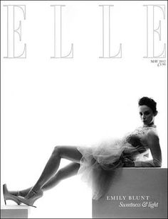 ELLE   (UK, subscribers' cover)  Emily Blunt, May 2012  Awesome heels, interesting design