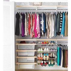 13 closet organizing ideas you can use today.: Birch + White elfa decor Reach-In Clothes Closet