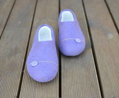 Felted slippers EU 38 US 8 Purple only this size by Juperi on Etsy, $72.00