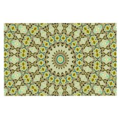 KESS InHouse Iris Lehnhardt 'Kaleidoscope Green' Geometric Dog Place Mat, 13' x 18' >>> Trust me, this is great! Click the image. : Dog food container