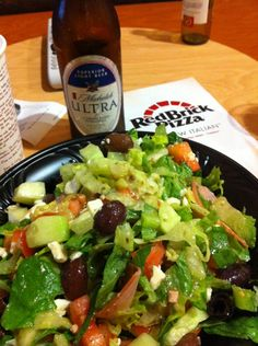 Salad and a beer!