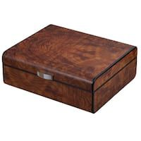 Visol PortHole Ebony Finish Cigar Humidor (Holds 75 Cigars)   Overstock.com Shopping - The Best Deals on Humidors Best Humidor, Diy Cigar Humidor, Cigar Boxes, Best Gift For Wife, Brown Decor, Cigar Accessories, Woodworking Box, Wooden Kitchen, Box Art