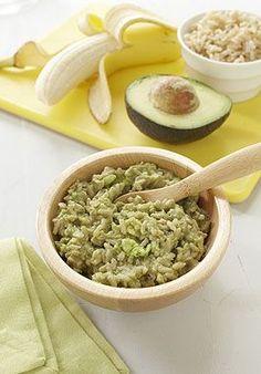 Rice, Avocado and Banana Mash