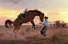 "❦ Tim Cox Fine Art's ""Working Out The Kinks"" sold at the 2013 Cowboy Artists of America at the National Cowboy & Western Heritage Museum in OKC last fall."