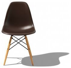 Eames Molded Plastic Dowel Leg Side Chair DSW   Modern   Chairs   Design  Within