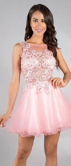 Embellished Short Natural Sleeveless Pink Bateau Evening Dress Sale tkzdresses85412sh #shortdress #homecomingdress