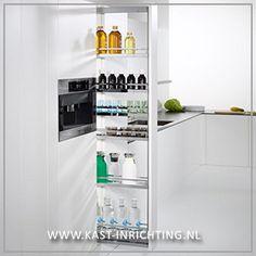 Apothekerskast voor hoge kast smalle kast van 15 cm - kast-inrichting.nl