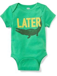 """""""Later Gator"""" Graphic Bodysuit - Old Navy"""