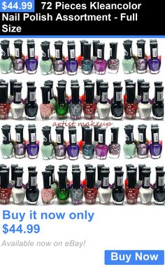 Nails: 72 Pieces Kleancolor Nail Polish Assortment - Full Size BUY IT NOW ONLY: $44.99