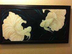 Betta fish original painting by blingobsession on Etsy, $400.00