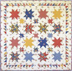 Love star quilts.  This would look awesome with bright stars and a black background.