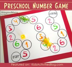 Counting Game {Icky Bug} Make Learning Numbers Fun