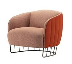 Tonella Ii Lounge Chair  Contemporary, Upholstery  Fabric, Metal, Leather, Wood, Armchairs  Club Chair by Lepere