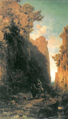 Flight into Egypt - Carl Spitzweg (1808 - 1885)