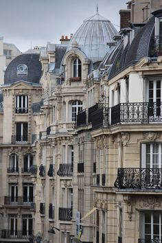 A great example of how beautiful the architecture is all over France and Europe. TG Balconies, Paris, France photo via anti Architecture Parisienne, French Architecture, Beautiful Architecture, Beautiful Buildings, Architecture Design, Beautiful Places, Haussmann Architecture, Facade Design, Parisian Apartment