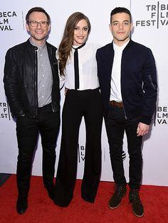 Star Tracks: Monday, April 18, 2016 | ROBOT WONDERS | Costars Christian Slater, Carly Chaikin and Rami Malek arrive at the Hacked By Def Con & Mr. Robot event at the Tribeca Film Festival on Saturday.
