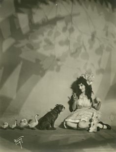 Silent film star, Madge Bellamy and friends.
